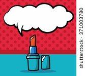 lipsticks color doodle  speech... | Shutterstock .eps vector #371003780