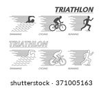 Modern Line Logo Triathlon....