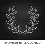 laurel wreath icon isolated on... | Shutterstock .eps vector #371007830