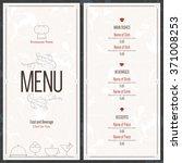 restaurant menu design. vector... | Shutterstock .eps vector #371008253