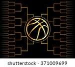 a golden basketball icon over a ...   Shutterstock .eps vector #371009699