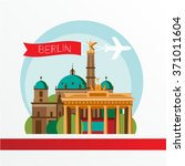 berlin skyline  detailed... | Shutterstock .eps vector #371011604