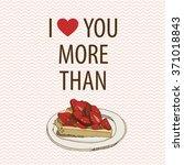 hand drawn sketch heart  cake...   Shutterstock .eps vector #371018843
