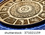 Astrological plate with all...