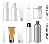 make up. tube of cream or gel... | Shutterstock .eps vector #371045150