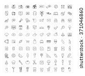 huge set of 100 hand drawn line ... | Shutterstock .eps vector #371046860