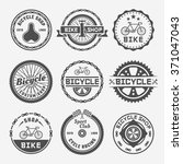 bicycle shop or repair service... | Shutterstock .eps vector #371047043