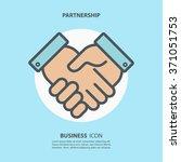 partnership icon. handshake... | Shutterstock .eps vector #371051753