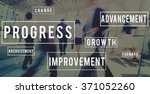 progress development innovation ... | Shutterstock . vector #371052260