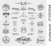 football  soccer hand lettering ... | Shutterstock .eps vector #371052968