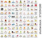 restaurant flat icons set  ... | Shutterstock .eps vector #371054180