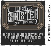 old style label font named... | Shutterstock .eps vector #371059430