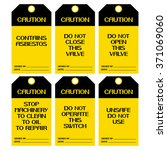 a set of posters safety caution ... | Shutterstock .eps vector #371069060