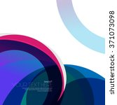 colorful circles design... | Shutterstock .eps vector #371073098