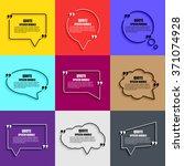 quote speech bubble vector... | Shutterstock .eps vector #371074928
