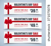 valentine's day collection sale ... | Shutterstock .eps vector #371075078