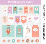 collection of valentines day... | Shutterstock .eps vector #371082248