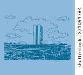 brazilian national congress in... | Shutterstock .eps vector #371091764