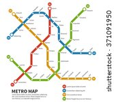 subway  metro map. template of... | Shutterstock .eps vector #371091950