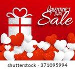valentine's day celebration... | Shutterstock .eps vector #371095994