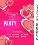 flyer or banner design... | Shutterstock .eps vector #371096120