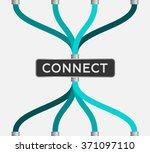 connect   eps10 vector | Shutterstock .eps vector #371097110