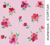 watercolor seamless flower... | Shutterstock . vector #371097164
