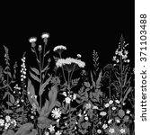 vector seamless floral border.... | Shutterstock .eps vector #371103488