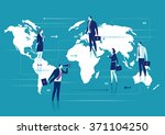 global business. business... | Shutterstock .eps vector #371104250