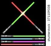 light swords futuristic. vector ... | Shutterstock .eps vector #371109338