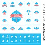 set cloud computing icons for... | Shutterstock .eps vector #371114120