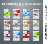 big set of folding brochures... | Shutterstock .eps vector #371114684