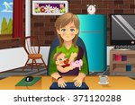 a vector illustration of mother ... | Shutterstock .eps vector #371120288