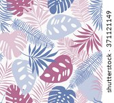 seamless pattern of tropical...   Shutterstock .eps vector #371121149