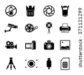 photography icons | Shutterstock .eps vector #371121299