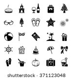 holiday icons | Shutterstock . vector #371123048