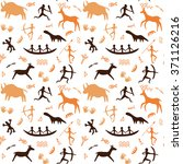 seamless pattern with cave... | Shutterstock .eps vector #371126216