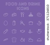 food and drink icon set. | Shutterstock .eps vector #371126810
