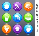 fruits and vegetables on... | Shutterstock .eps vector #371128040