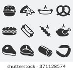 food meat and junk food on...   Shutterstock .eps vector #371128574