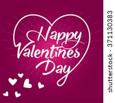 happy valentine february 14... | Shutterstock .eps vector #371130383