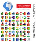 round flat flags of africa... | Shutterstock .eps vector #371139194