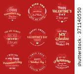 set of happy valentines day... | Shutterstock .eps vector #371140550