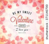 valentines day greeting card or ... | Shutterstock .eps vector #371140700