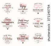 set of happy valentines day... | Shutterstock .eps vector #371140754