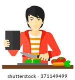 man cooking meal. | Shutterstock .eps vector #371149499