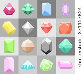 set of 16 diamonds   gemstone... | Shutterstock .eps vector #371157824