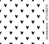 heart grunge seamless pattern... | Shutterstock .eps vector #371158370