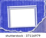 frame for photo with pearls on... | Shutterstock . vector #37116979