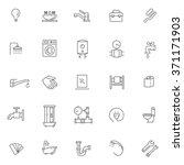 vector plumbing  outline icons... | Shutterstock .eps vector #371171903